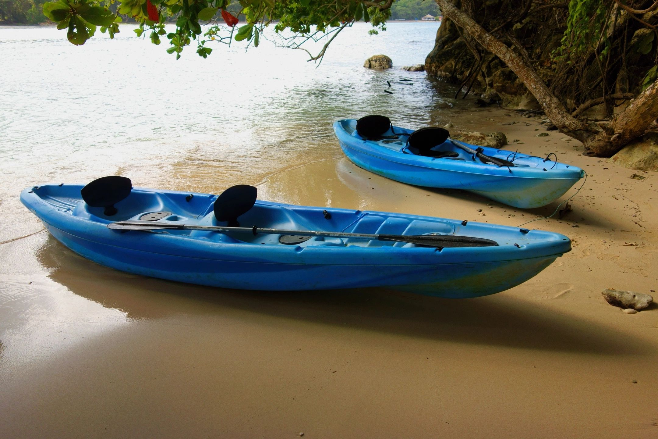 Kayak Rigging on Beach