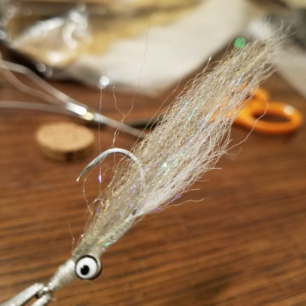 Beach Snook Clouser -Olive on White